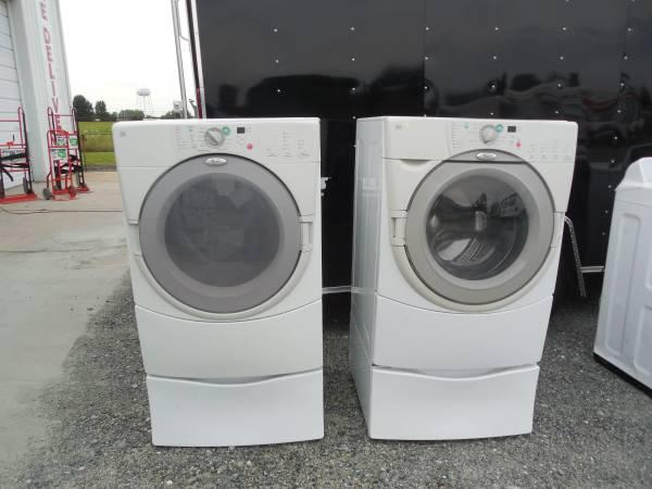 Whirlpool Duet Frontload Washer Electric Dryer Set W Peds For Sale In Manor