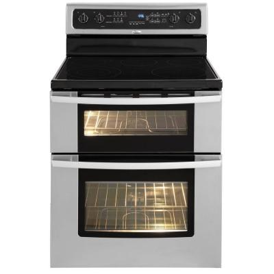 Whirlpool Gold 67 Cu Ft Double Oven Electric Range With Self