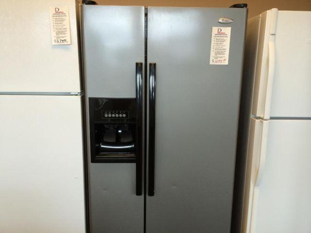 Whirlpool Slate Stainless Side By Side Refrigerator Used