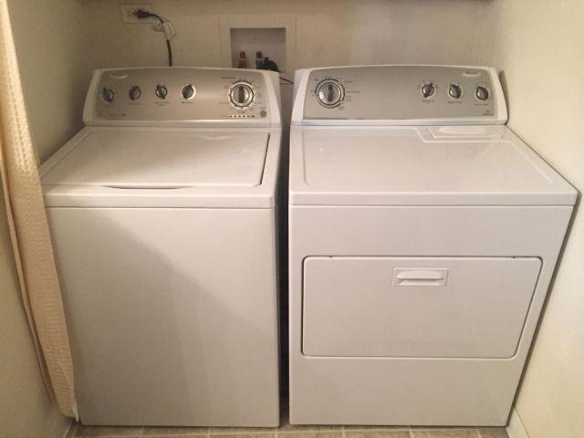 Whirlpool Top Load Washer And Dryer Set Only 2 Years Old