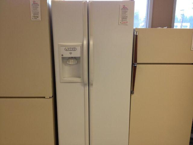 Whirlpool White 25 Cubic Foot Side By Side Refrigerator