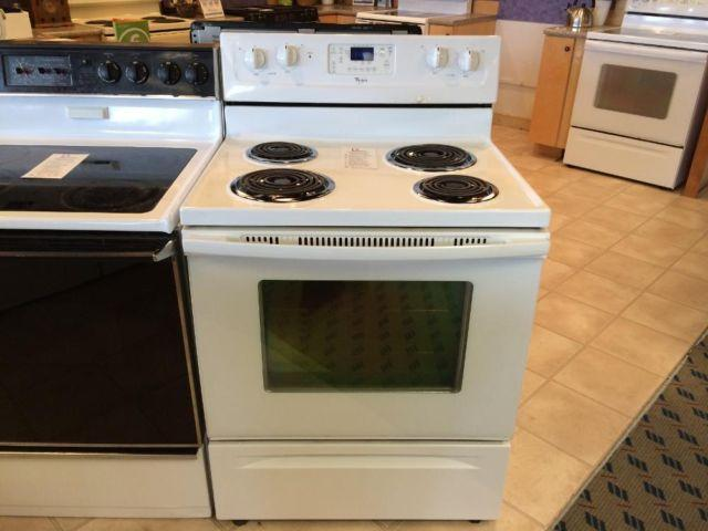 Whirlpool White Coil Burners Range Stove Oven Used For