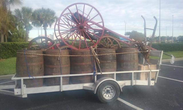 Whiskey Barrels Wagon Wheels Plows
