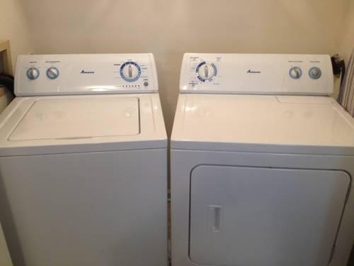 White Amana Washer And Dryer Set Just 10 Months Old For