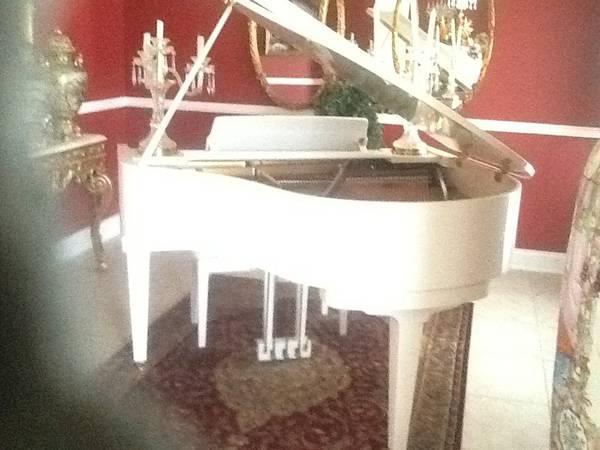White baby grand piano - $5500
