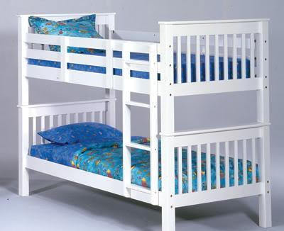 White Bunk Bed Set Solid Wood New Mt Pleasant For