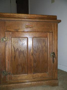 White Clad Solid Oak Tv Stand For Sale In Chattanooga Tennessee