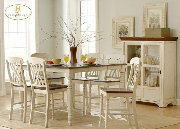 WHITE COUNTER HEIGHT DINING ROOM TABLE AND CHAIRS - $585 BOWLING GREEN