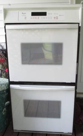 White Double Wall Oven Over The Range Microwave Kitchen