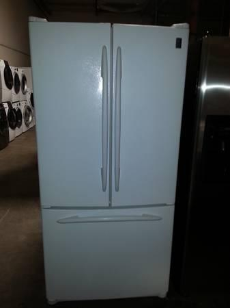 White Ge Profile French Door Refrigerator With Water And