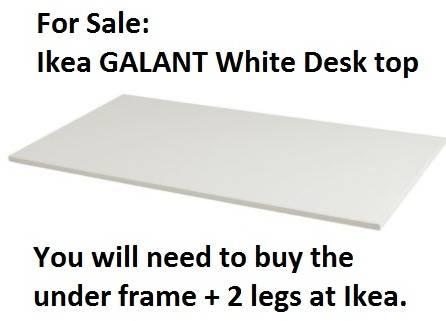 white ikea galant desk top for sale in land o lakes florida classified. Black Bedroom Furniture Sets. Home Design Ideas