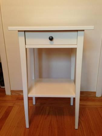 White Ikea Hemnes Nightstand For Sale In San Bruno