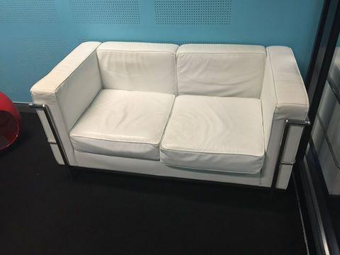 White leather chair for sale