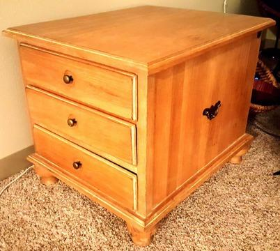 White Oak Coffee Side Table - Good Condition