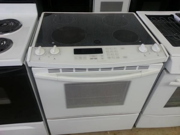 White Porcelain Kitchenaid Slide In Electric Range For