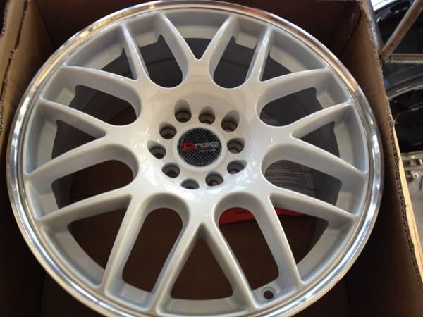 Red Bluff Dodge >> WHITE RED GOLD BLACK DRAG RIMS TUNER RIMS WITH TIRES - for ...