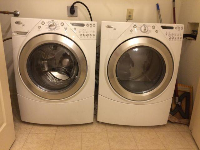 White Whirlpoolduet Washer Amp Dryer White Authentic Leather