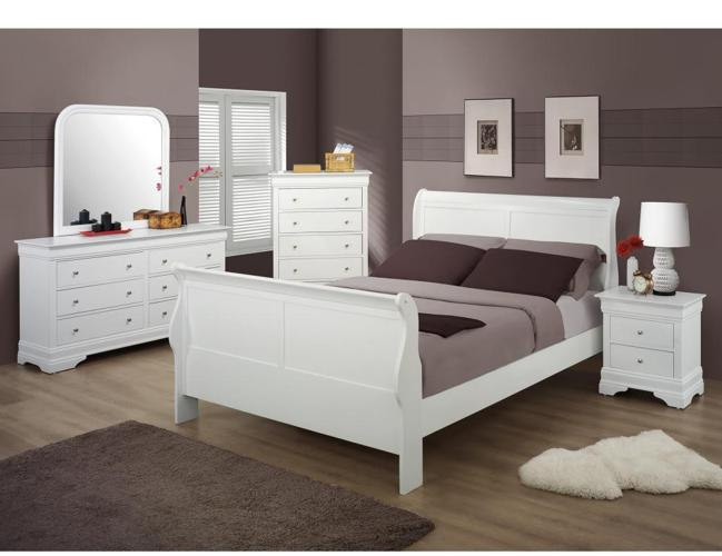 White wood bedroom set new full or queen mt for White full bedroom furniture sets