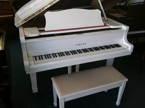 yamaha white grand piano - photo #5