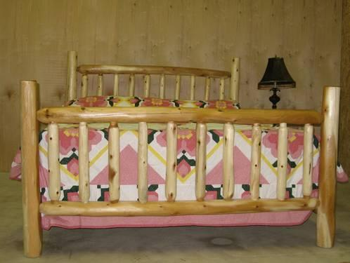 Wholesale Rustic Log Queen Complete Bed New Sanded Finished For Sale In Riverdale