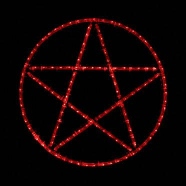 Wiccan Pentacle LED Lighted Wall Art, Home Decor, Wicca, Pentagram ...