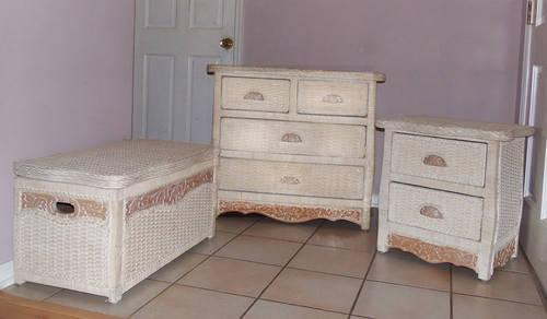 Wicker dresser set pier one for sale in longwood - Pier one white wicker bedroom furniture ...