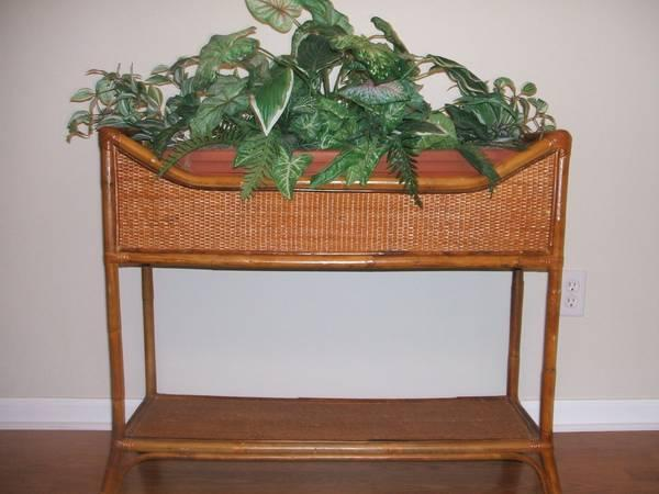 Wicker Plant Stand - $65