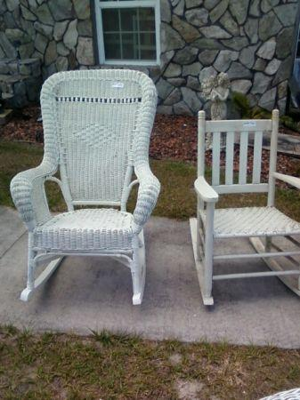 WICKER ROCKING CHAIRS WINTER HAVEN for Sale in
