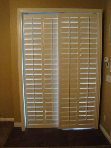 Wide Slat Sliding Glass Door Shutters For Sale In Las