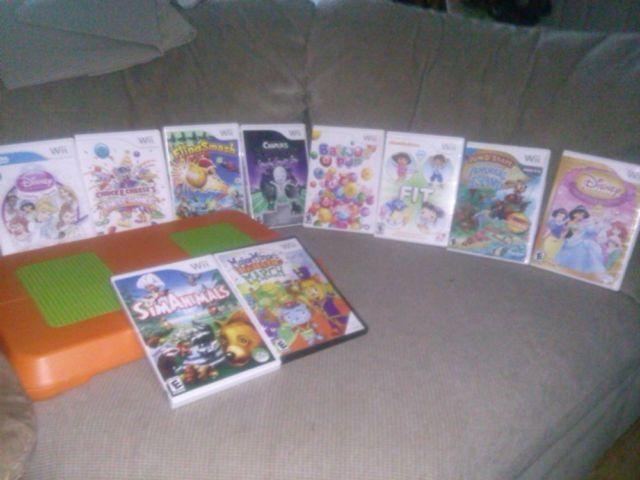 Wii Balance Board For Kids Only And 10 Wii Games For Kids For Sale