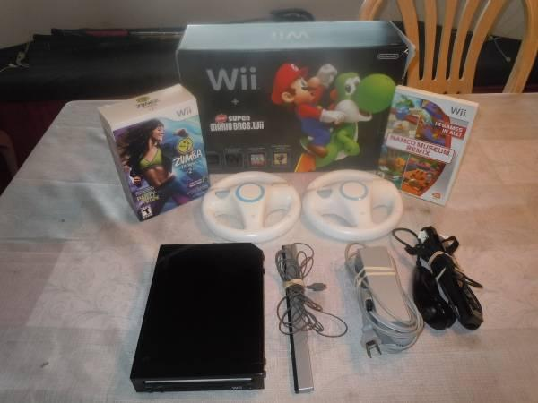 WII BUNDLE WITH BOX EXTRAS GAMES EXCELLENT COND. - $150