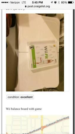 Wii fit balance board  game - $15
