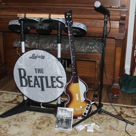Best beatles rockband limited edition premium bundle wii for sale.