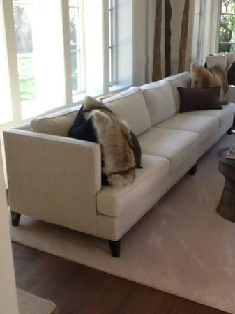 William sonoma home hyde sofa extra long for sale in for Long couches for sale