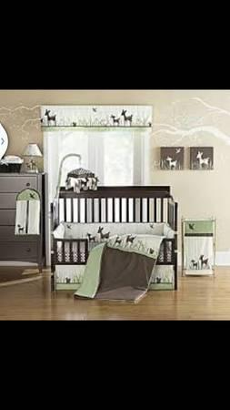 Willow Organic Deer Baby Crib Set Amp Accessories For Sale