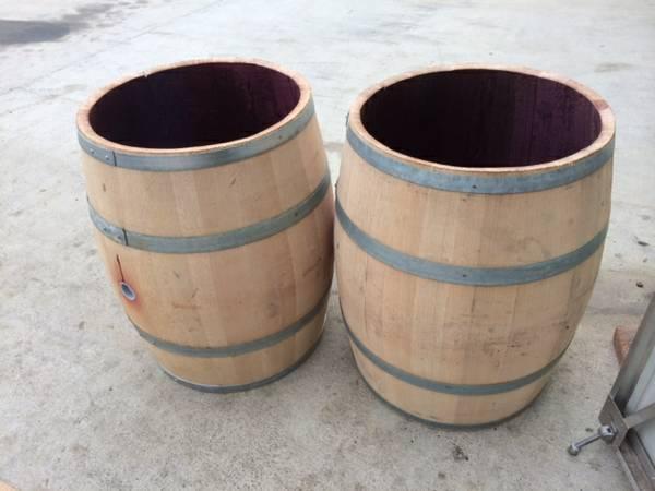 Wine Barrel Staves Table Base Firewood Trash Can Holder