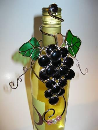 Wine Bottle Decorations Hand Made Stained Glass For Sale In Gorgeous Stained Glass Wine Bottle Decorations