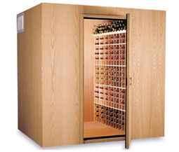 Wine cellar walk in cooler wine room locked room for Walk in wine room