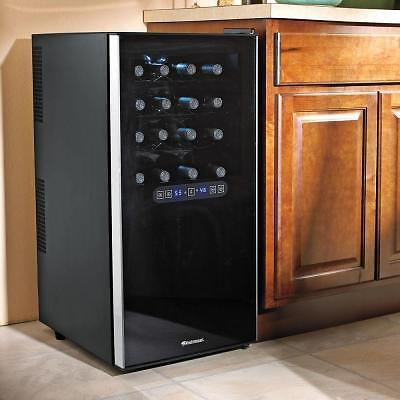 WINE ENTHUSIAST Free Standing Dual Zone Wine Chiller -