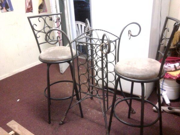 Wine Rack Table Amp Barstools Visalia For Sale In