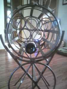 Wine Rack/Wine Barrel - $200 (South Fargo)