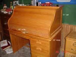 Winners only solid oak rolltop desk REDUCED PRICE West