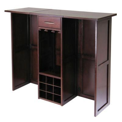 Winsome Wood Newport 50 in. Wine Bar Counter