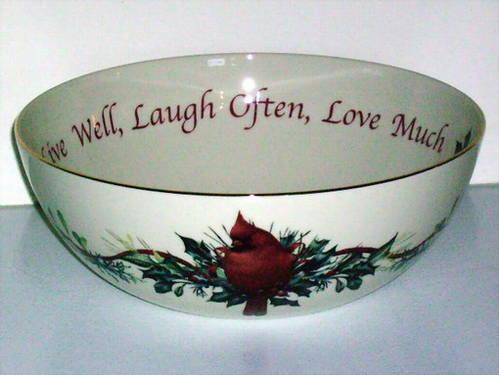 Winter greetings sentiment serving bowl by lenox new for sale in winter greetings sentiment serving bowl by lenox new m4hsunfo
