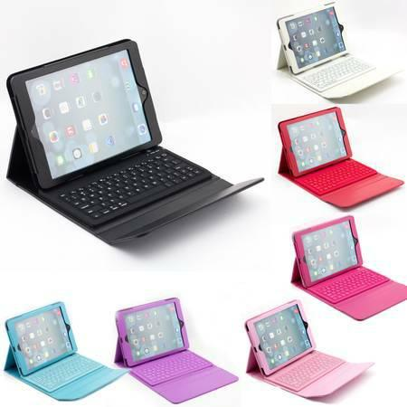 Wireless Bluetooth Keyboard PU Leather Case for iPad