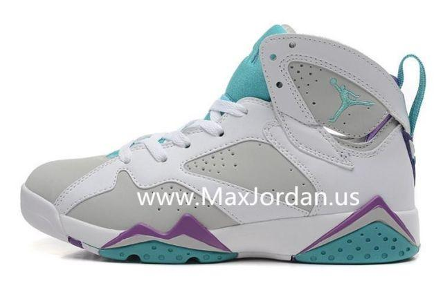 9c7f38aa33ae9c Women Air Jordan 7 White Grey Purple Sneaker Sale for sale in Mount Juliet