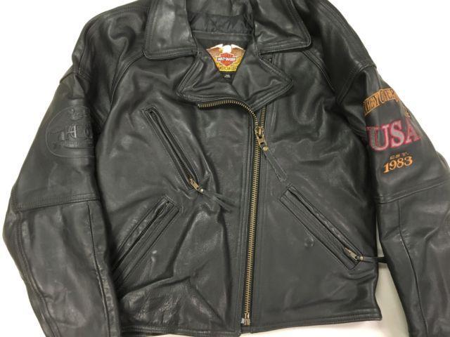 Womens Black Leather Harley Davidson Jacket HOG Harley Owner Group
