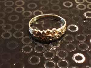 Womens Gold Nugget Ring Pinky Ring Small 10k Gold