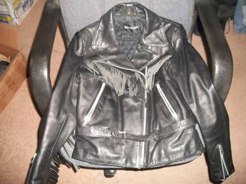 Womens Harley Davidson Leather Jacket, Size 38 for Sale in Flag
