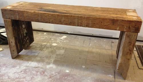 Wood Bench Seats, Rough Cut Lumber, Industrial, Rustic